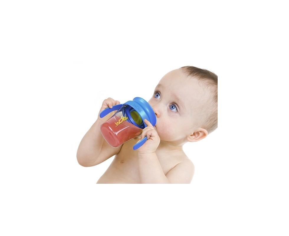 Vaso antiderrames y antigoteo para bebés Wow Baby Cup