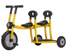 Triciclo gemelar Pilot con pedales amarillo