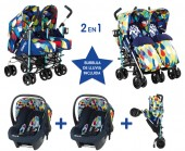 Pack ahorro Cosatto gemelar Two & Fro Duo Pitter Patter