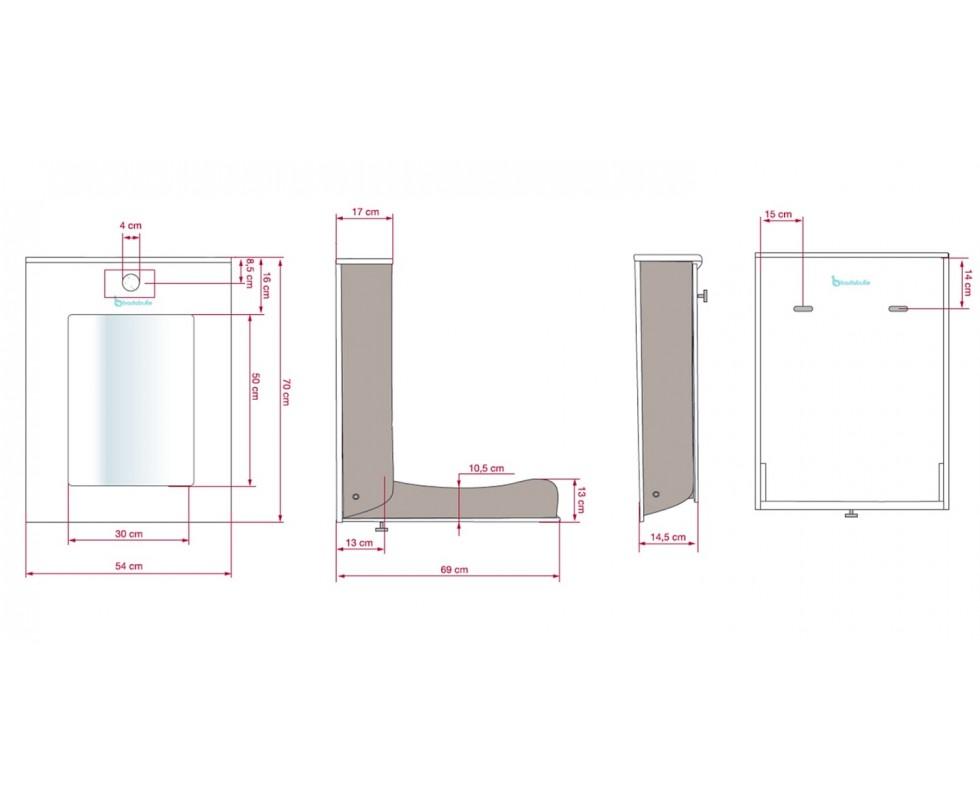 Cambiador de pared dom stico easy - Fabriquer table a langer murale ...
