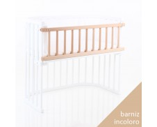 Barrera para cuna gemelar Babybay Maxi madera natural barnizada