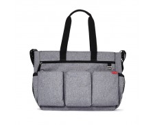 Bolso de pañales Double Heather Grey