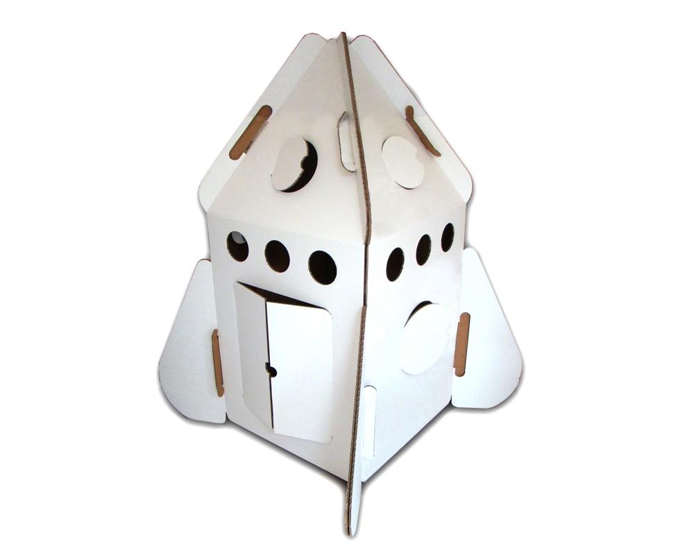 Cohete de cartón para niños