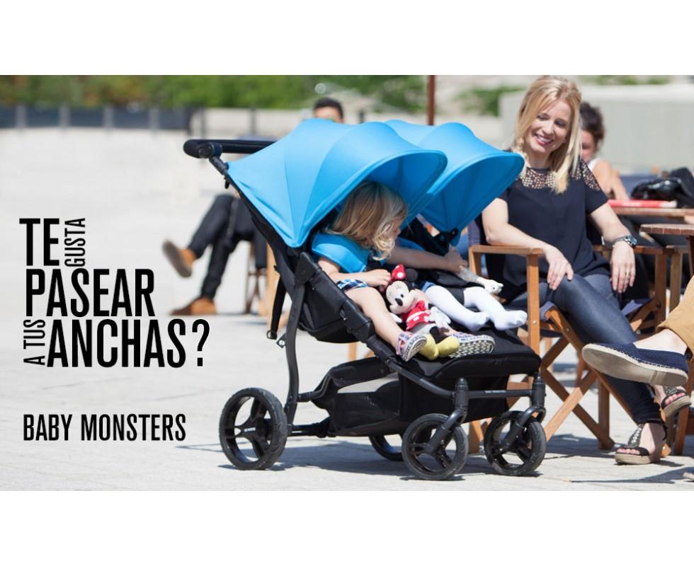 Carrito gemelar Baby Monsters Easy Twin