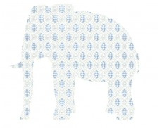 Papeles de pared: elefanta de papel