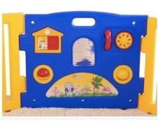 Extensión azul con juegos para parque gemelar Ibaby Twin Play