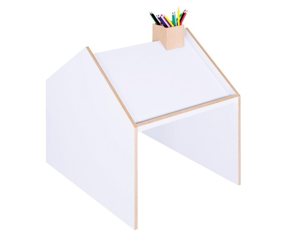 escritorio doble con forma de casita