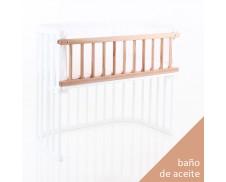 Barrera colecho para cuna gemelar Babybay Maxi madera aceitada