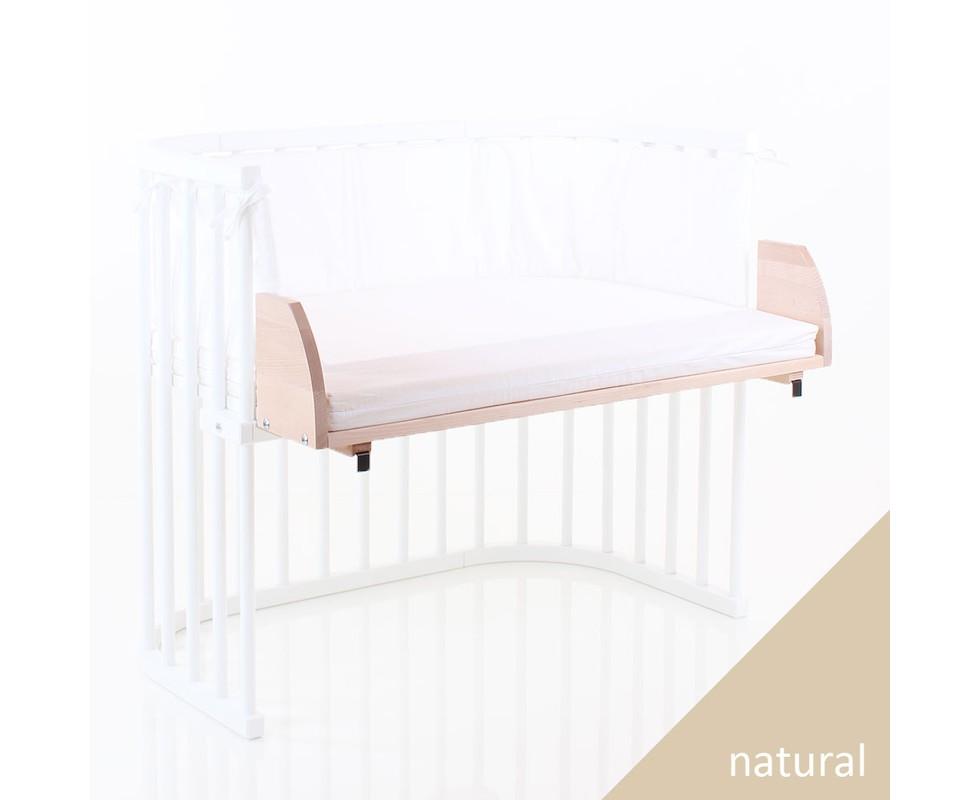 adaptador para cuna colecho gemelar babybay maxi madera natural