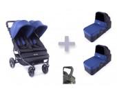 Pack básico Baby Monsters Easy Twin con capazos duros y barra delantera