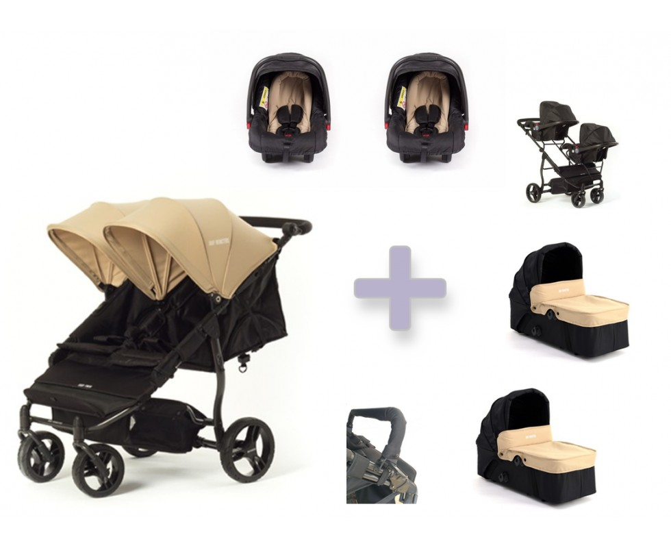 Pack auto Baby Monsters Easy Twin 3.0 con capazos duros