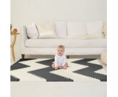 SKIPHOP Alfombra Playspot Decorativa Black Cream
