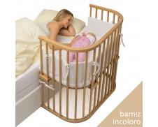 Cuna de colecho gemelar Babybay Boxpring (madera natural barnizada)