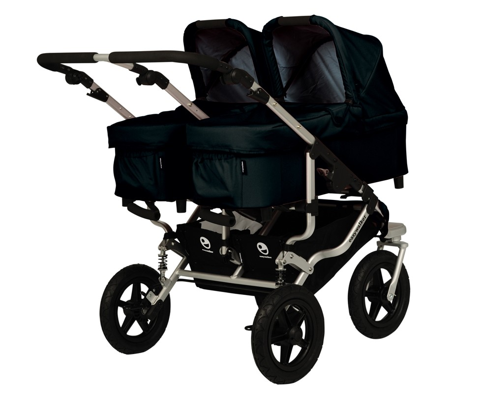 Carrito Gemelar Easywalker Duo Plus Negro Tot A Lot