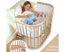Cuna de colecho gemelar Babybay Maxi (madera natural barnizada)