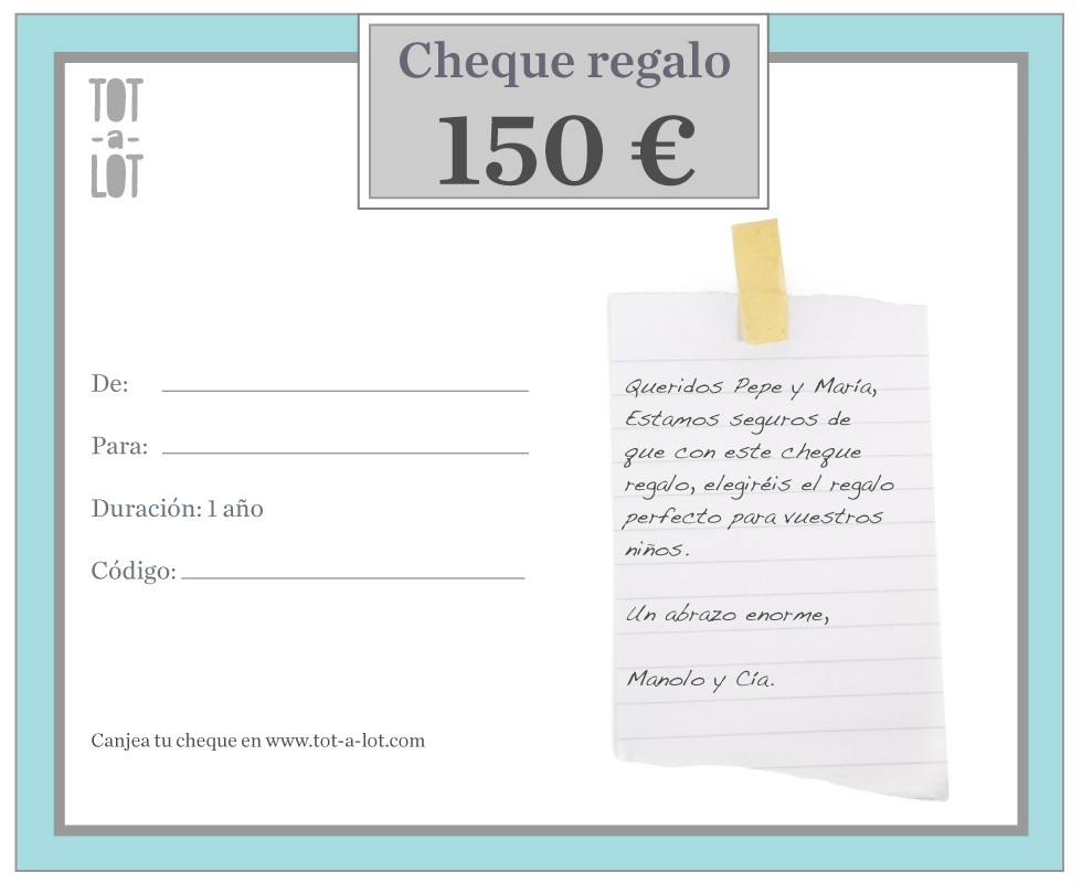 Cheque regalo 150 €