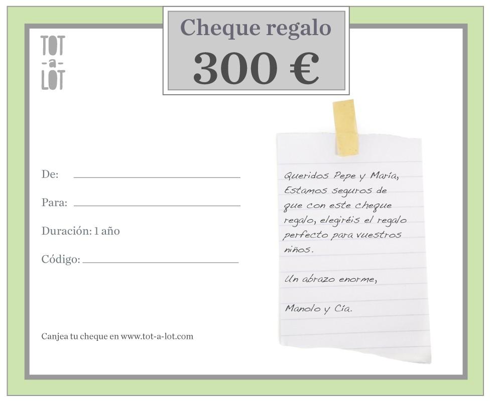 Cheque regalo 300 €