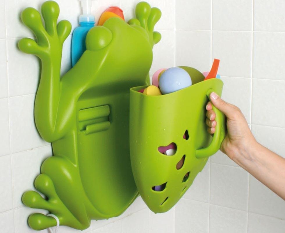 Rana frog pod almacenaje para ba o tot a lot - Juguetes de bano ...