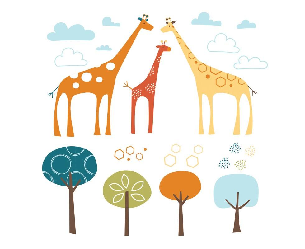 Autoadhesivos de Giraffe Safari adornos Skip Hop