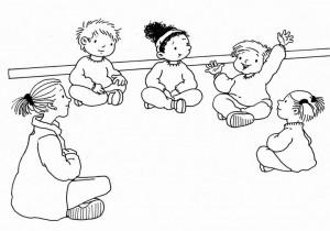 asamblea de niños en el colegio